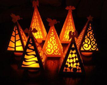 176 best images about Clay Luminaries & Pierced Ceramics #0: ec d8e1f3e9fa05c9e343fccb5f paper christmas trees xmas trees