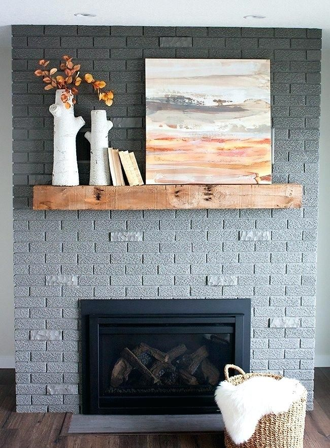 Painting Red Brick Fireplace Painting A Red Brick Fireplace Grey