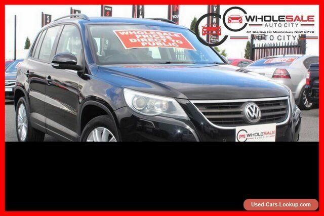 2008 Volkswagen Tiguan 4MOTION 5N 103TDI Black Automatic A Wagon #vwvolkswagen #tiguan #forsale #australia