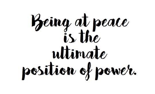 ☯ Where there is hate, resentment & dishonesty, there is no room for peace!!  ☺️