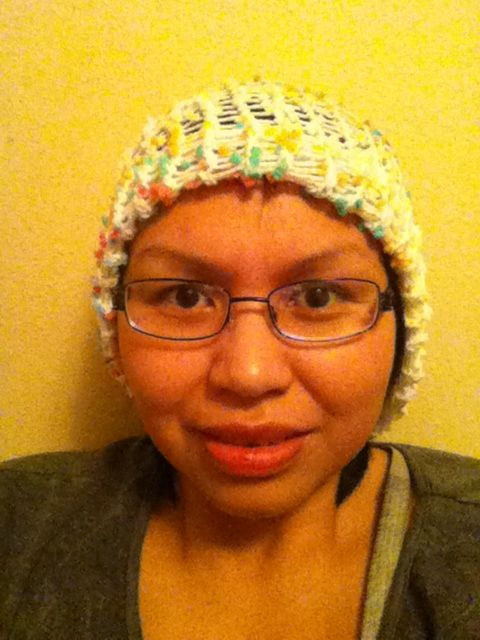 nhlc's skittle knitted toque..