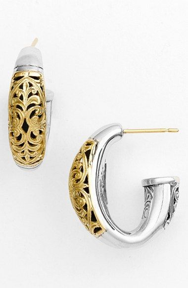 Women's Konstantino 'Classics - Daphne' Hoop Earrings - Silver/ Gold