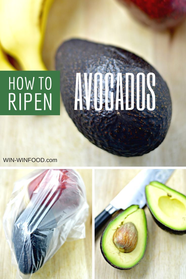 How to Ripen Avocados (and other fruits) | WIN-WINFOOD.com Speed up ripening of your rock-solid fruit with this simple trick #howto #kitchenhacks