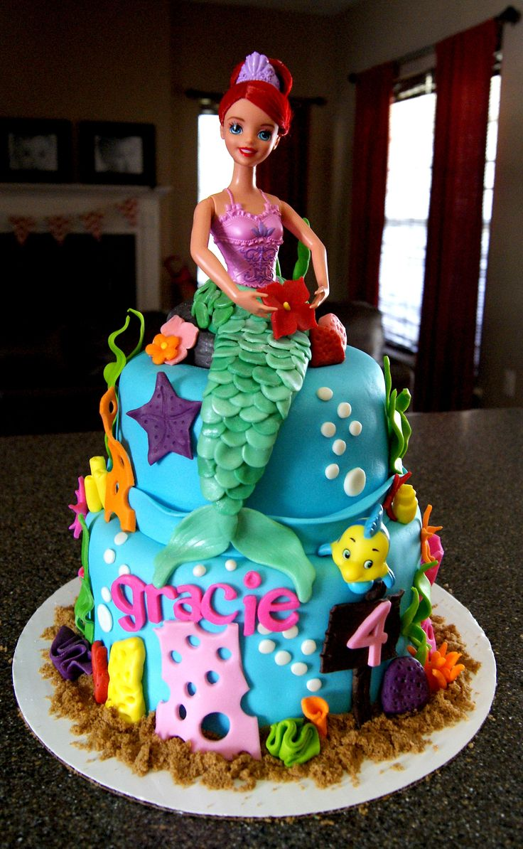 20 best images about ariel cake on pinterest sweet peas for Ariel cake decoration