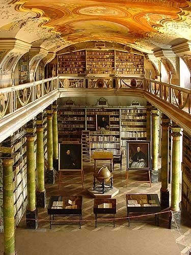 Broumov Monastery Library Czech Republic