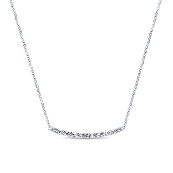 14kt gold diamond bar necklace. Don't you just love it?