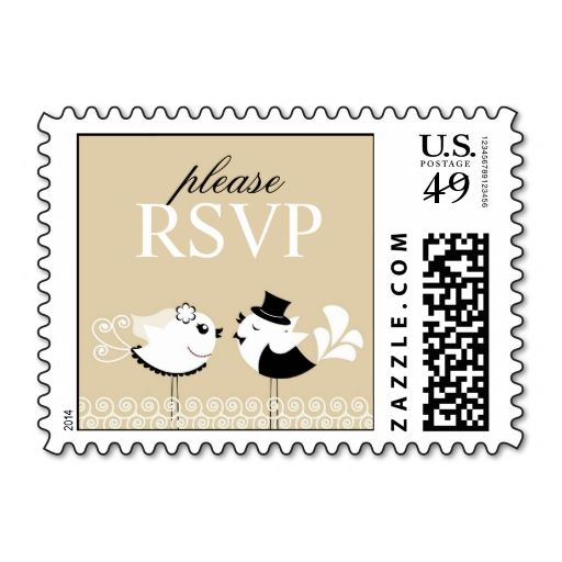Rsvp Wedding Birds Small Postages Postage