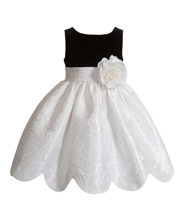 Look at this Kleinfeld Pink Black & White Flower Dress - Infant, Toddler & Girls on #zulily today!