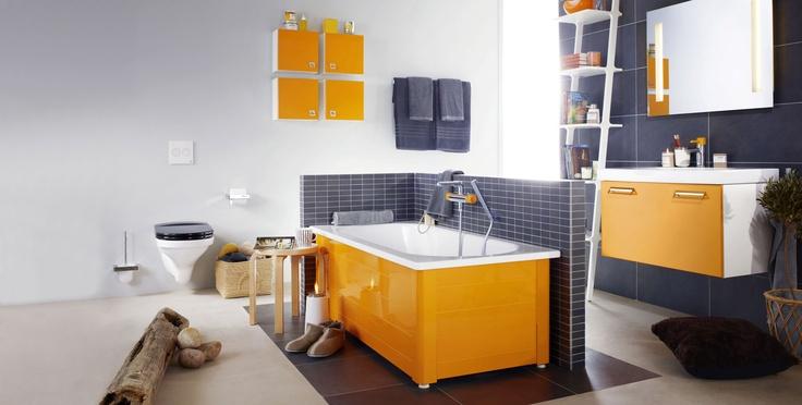 Toiletter i retro farver og design