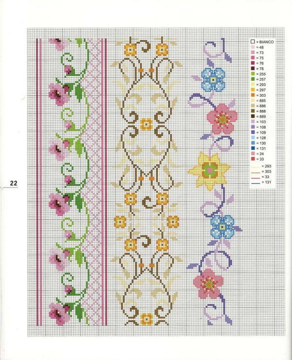 Cross-stitch Floral Borders... Gallery.ru / Фото #8 - 2 - logopedd