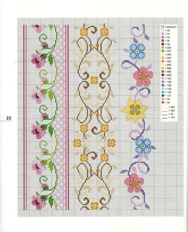 Cross-stitch Floral Borders... Gallery.ru / Фото #8 - 2 - logopedd