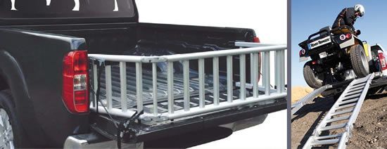 General 4x4 Accessories - Multi-Ramp - Four in one product! motorcycle ramp, bed extender, bed partition, wind/slide ramp. ATV Motorbike loading ramp