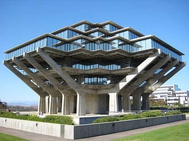 UCSD Geisel Library.  One of the most modern libraries in the world.  It was designed by William Pereira who also designed the Transamerica Pyramid in San Francisco.  #UniqueLibraries #UCSD #LaJolla #FuturisticDesigns #EmpressHotelLaJolla #GreystoneHotels #lajollalocals #sandiegoconnection #sdlocals #sandiegolocals - posted by Empress Hotel La Jolla  https://www.instagram.com/empresslajolla. See more post on La Jolla at http://LaJollaLocals.com