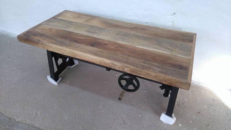 Couchtisch Höhenverstellbar 45-65 cm Industrie Design Loft Lounge crank table in Möbel & Wohnen, Möbel, Tische | eBay