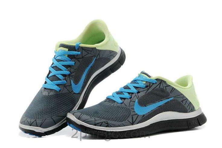 Nike Free 4.0 V3 Heren Schoenen Dark-Grijs Powder-Blauw Aqua 642934-043