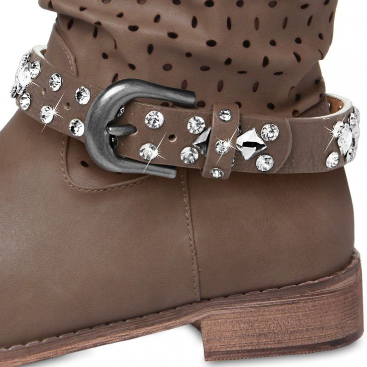 Amazon.com: CASPAR Womens Boot Strap / Accessory with Rhinestones and  Glitter - many