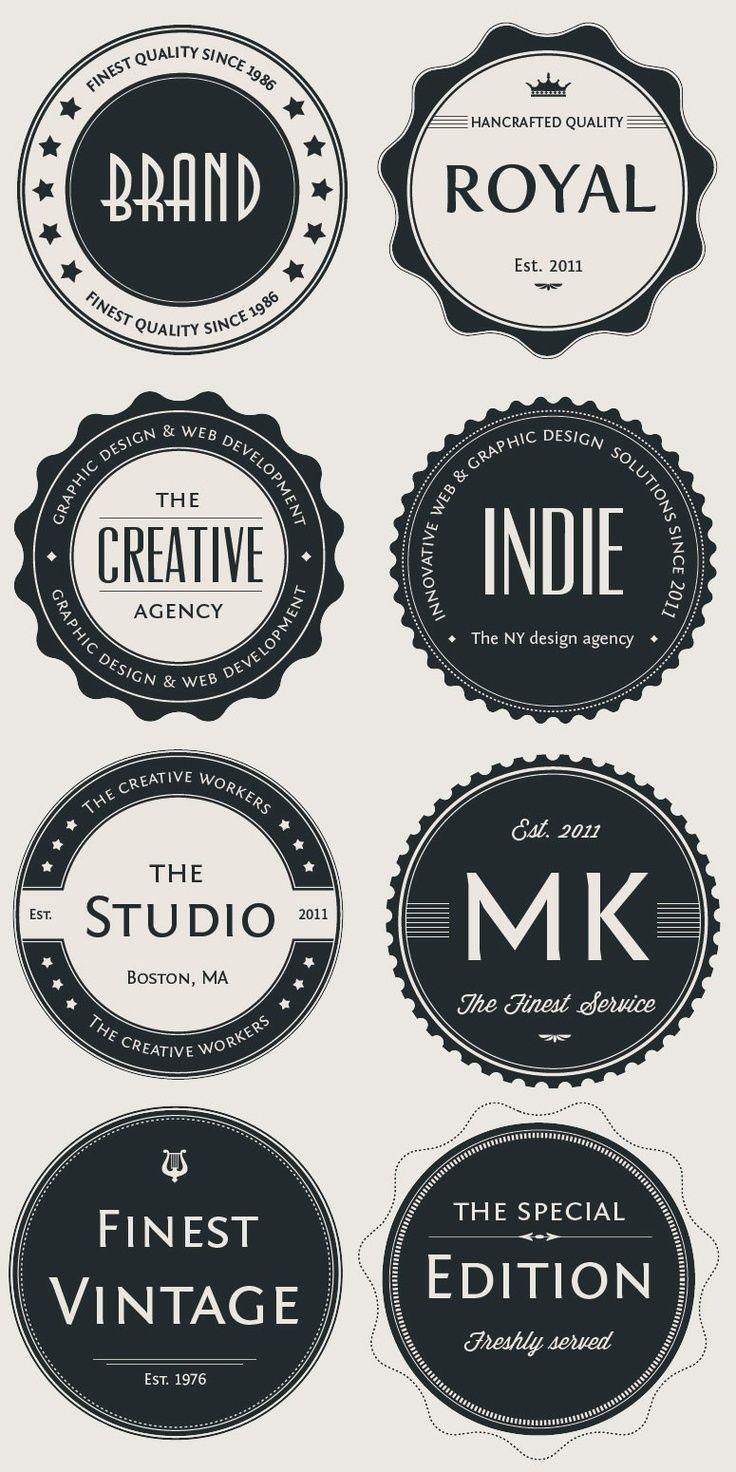 Vintage Logo Badges Set badge graphic design Graphics