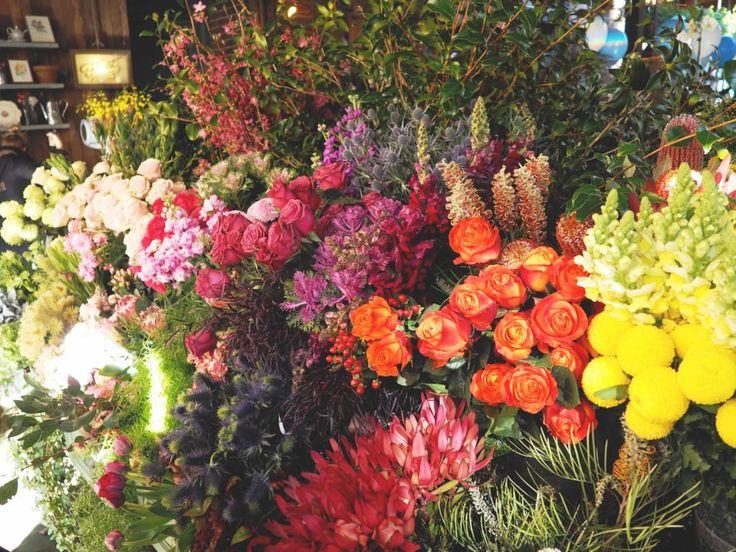 ZARA Outfit mit Chloé look alike Sandalen | Sydney. Ein Meer aus Blumen. Blumenmeer, Flowermarket. Flower Market