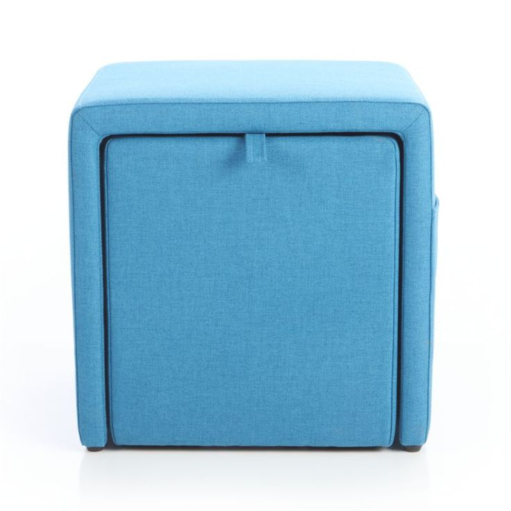 Stash Aqua Storage Ottoman Crate And Barrel Hermitage