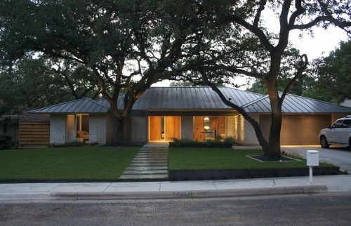 Another Example Of A Metal Roof On A Ranch Style Home