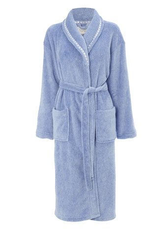 Blue Ladies Shawl Collar Robe - BHS
