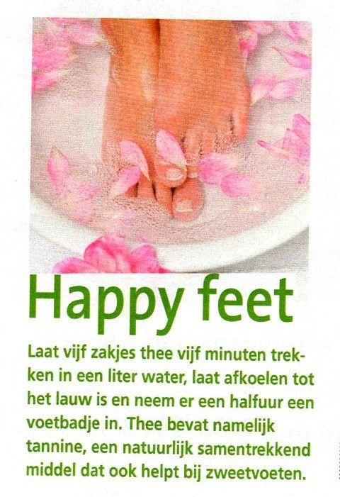 zachte, ontspannen voeten