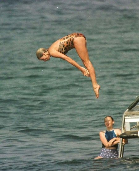 Iconic swimwear moments - Fashion Galleries - Telegraph - When Princess Diana took a break aboard new boyfriend Dodi Al Fayed's family yacht, just two weeks before her untimely death, the eyes of the world were upon her. What better way to say 'I've moved on' than in a series of statement swimsuits, which accentuated her athletic frame and perfect legs.