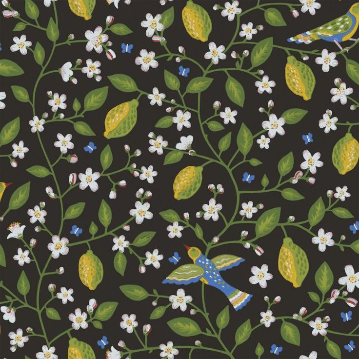 Amalfi - Black wallpaper, from the Gabriel collection by Sandberg