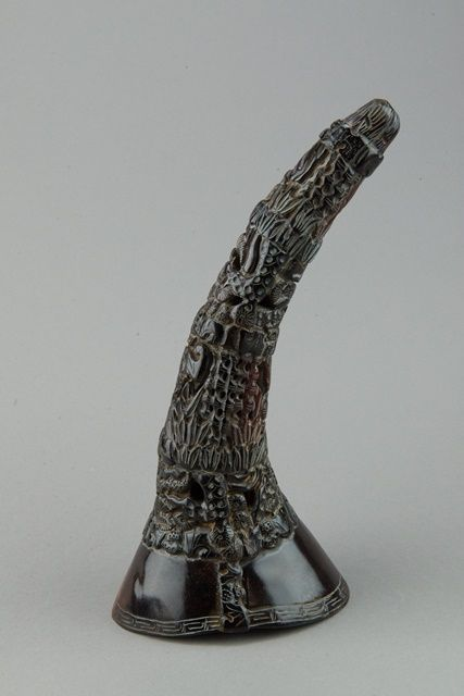 Lot 495Chinese Horn Carved Libation Cup$2000-$4000