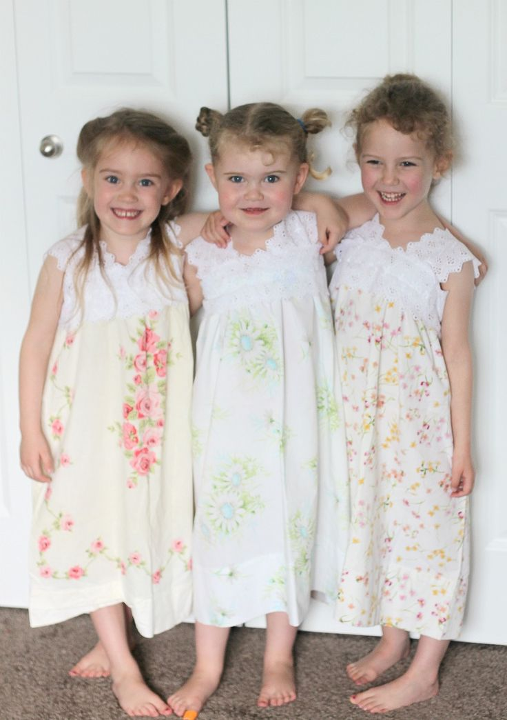 Pillow Case Nighties. Just vintage pillowcases and about a yard of wide lace and you are done!
