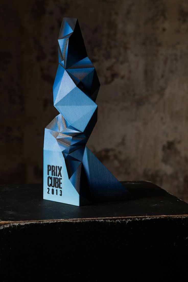 Unity tall modern trophy creative design beautiful materials not glass - Design And Creation Of A Printed Award