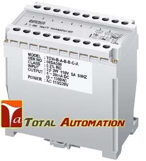 KUSAM MECO -TD SERIES POWER FACTOR TRANSDUCER - Total Automation Dual Aux. Power 110/220V AC High Accuracy 0.2% RO at 23oC± 5oC High Dielectric Strength 2.6KV AC/Min, Between Input / Output/ Power Case ABS Plastic Case, DIN Rail or Wall Mounting