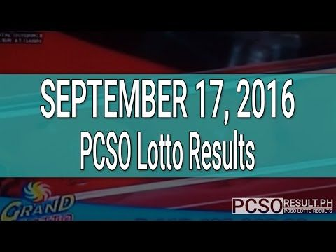 PCSO Lotto Results September 17, 2016 (6/55, 6/42, 6D, Swertres & EZ2) - (More info on: http://1-W-W.COM/lottery/pcso-lotto-results-september-17-2016-655-642-6d-swertres-ez2/)