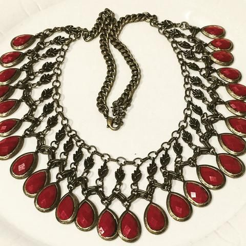 Designer Necklace Red Bronze -  - 1