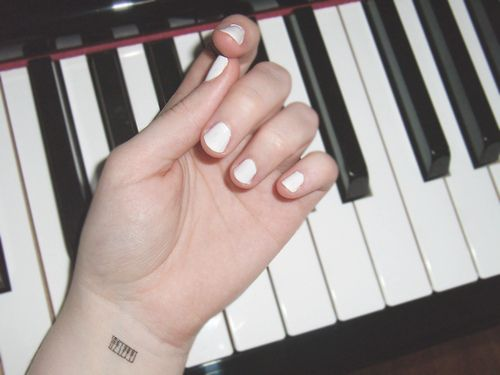 Piano tattoo <3 love this!