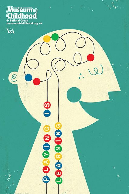Playing Is Learning - a poster for the V&A's museum of childhood by Dale Murray