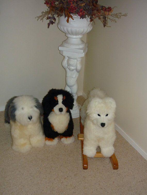 Samoyed Puppy Fluffy Pure Sheepskin Child S Rocker Samoyed Puppy