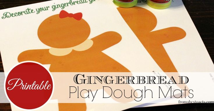 Nothing says Christmas like a gingerbread man! Get a jump start on your Christmas activities with these adorable play dough mats!