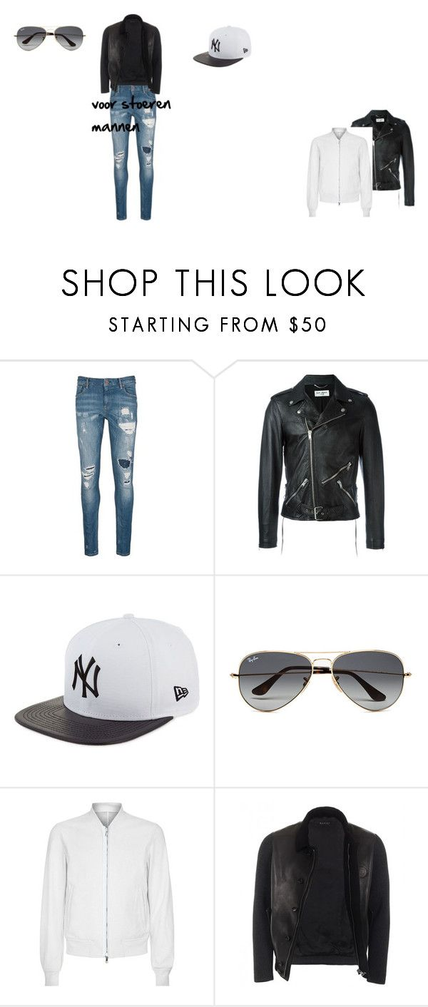 """stoeren mannen"" by roxanedeen on Polyvore featuring Scotch & Soda, Yves Saint Laurent, New Era, Ray-Ban, Wooyoungmi, Gucci, men's fashion en menswear"