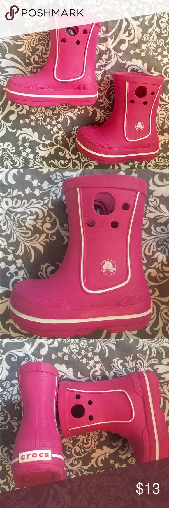 Pink Crocs Boots! Toddler Size 6/7 Adorable Crocs!! Pink Boots, Toddler Size 6/7, Excellent condition CROCS Shoes Boots