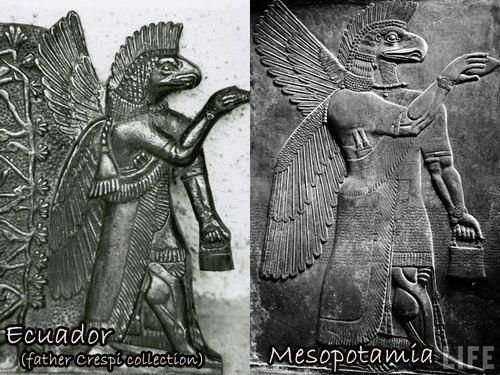Similar ancient works of art in two different parts of the world. ◆ This is not a coincidence!