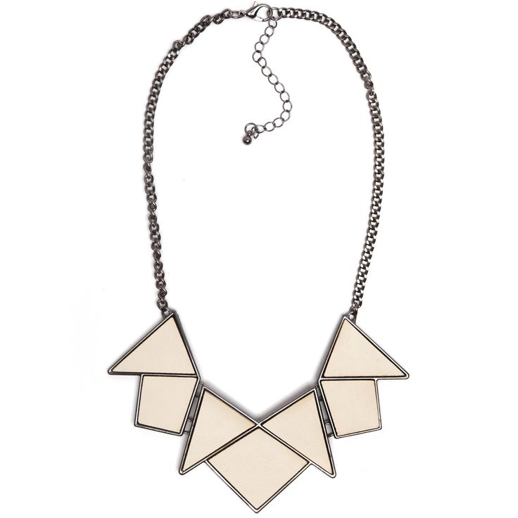 White geometric necklace