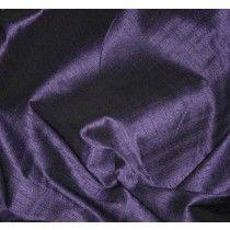 Pandora Faux Silk Dupion. Violet / Black. 137cm Wide.