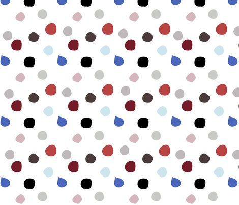 Painted Dots (white) fabric by mariden on Spoonflower - custom fabric