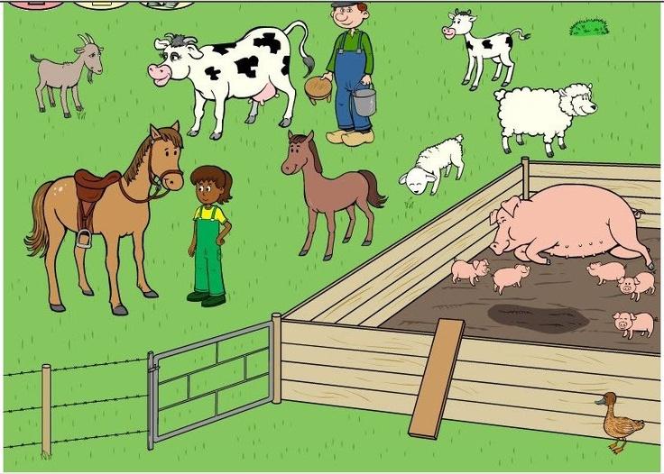 Boerderijdieren praatplaat
