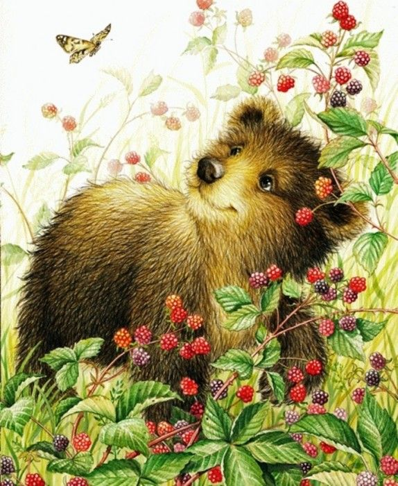 Lisa McCue - bear in the blackberry patch