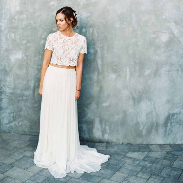 17 best Two Pieces Wedding Dresses images on Pinterest ...