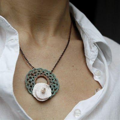 Crochet necklace, very pretty.