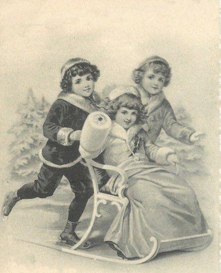 Vintage christmas children