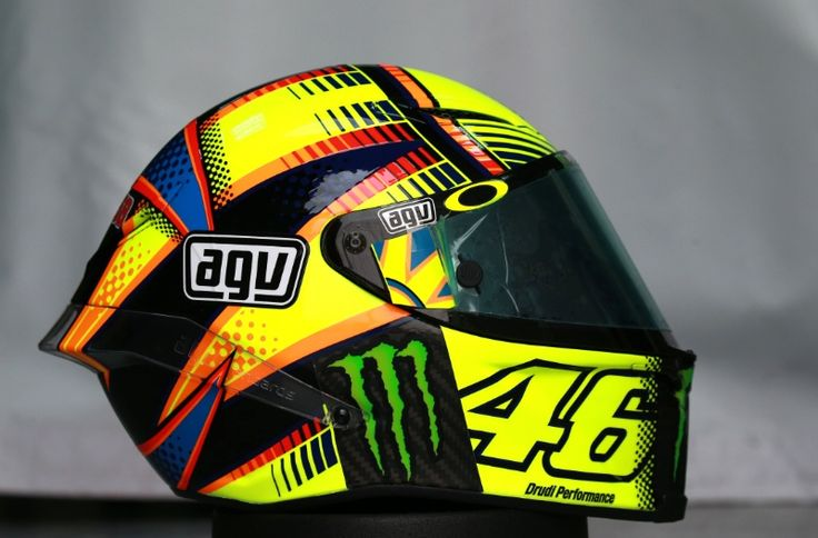 Rossi's helmet, Qatar MotoGP test, March 2015